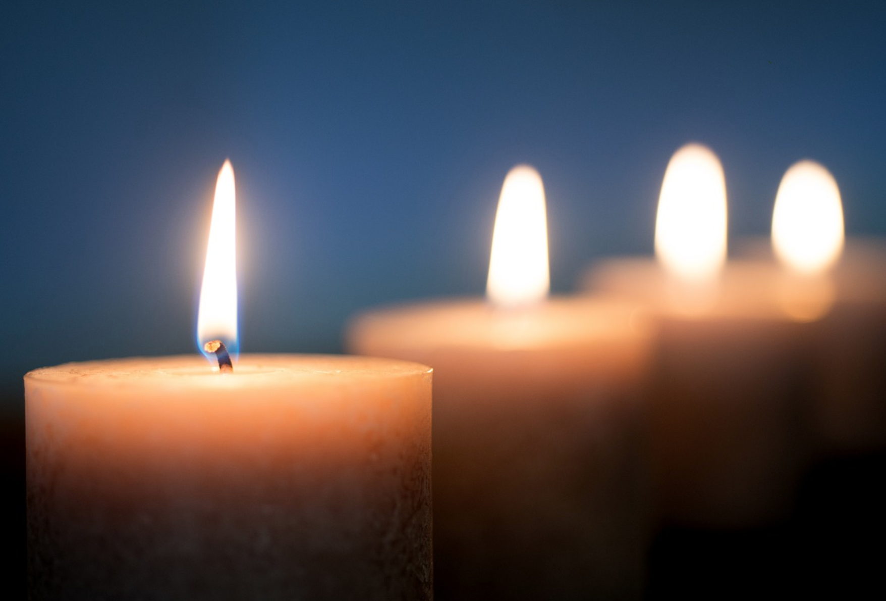 Soft Candlelight for Memorial Service